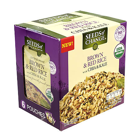 Seeds Of Change Brown Rice, With Chia And Kale, 8.5 Oz, Pack Of 6 Pouches