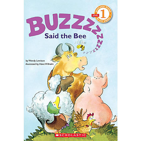 Scholastic Reader, Level 1, Buzz Said The Bee, 3rd Grade