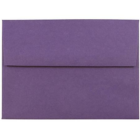 "JAM Paper® Booklet Invitation Envelopes, A6, 4 3/4"" x 6 1/2"", Dark Purple, Pack Of 25"