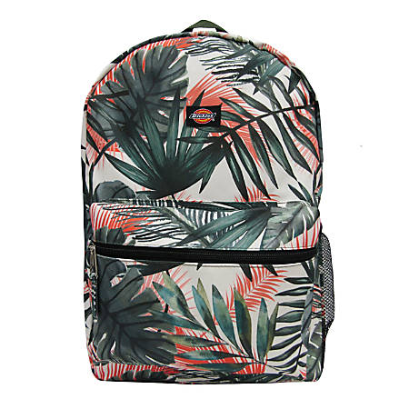 "Dickies Student Backpack With 15"" Laptop Pocket, Palm Fronds"