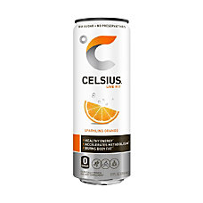 Celsius Sparkling Orange Fitness Drinks 12