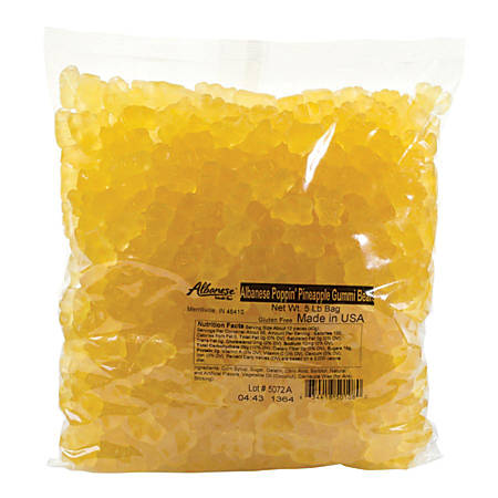 Albanese Confectionery Gummies, Poppin' Pineapple Gummy Bears, 5-Lb Bag