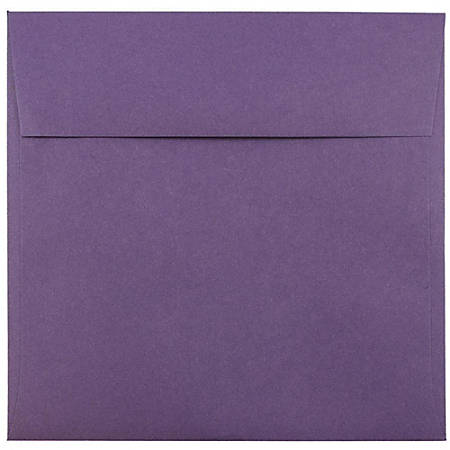 "JAM Paper® Color Square Invitation Envelopes, 8 1/2"" x 8 1/2"", Dark Purple, Pack Of 25"
