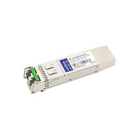 AddOn MSA and TAA Compliant 10GBase-DWDM 100GHz SFP+ Transceiver (SMF, 1535.04nm, 80km, LC, DOM)