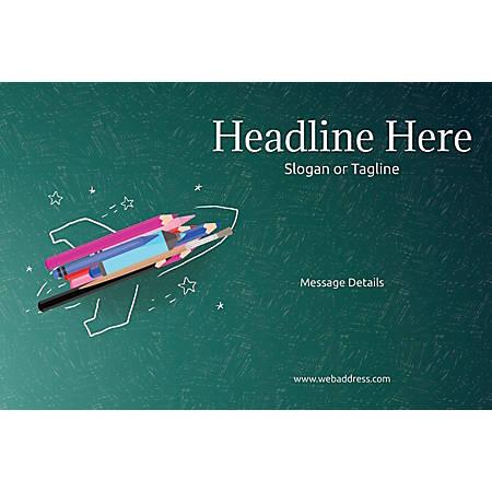 Custom Poster, Creative Rocket, Horizontal
