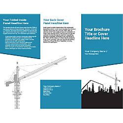 Customizable Trifold Brochure Blue Construction