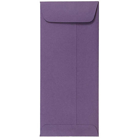 "JAM Paper® Policy Envelopes, #10, 4 1/8"" x 9 1/2"", Dark Purple, Pack Of 25"