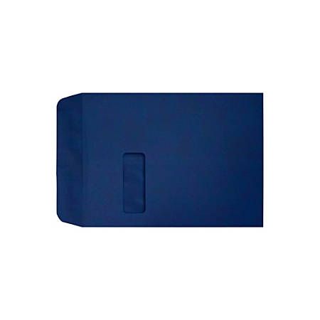 "LUX Open-End Window Envelopes With Peel & Press Closure, #9 1/2, 9"" x 12"", Navy, Pack Of 1,000"