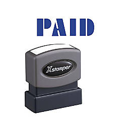 Xstamper Blue PAID Title Stamp Message
