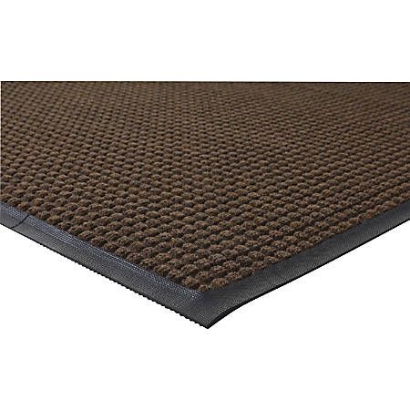 Genuine Joe Waterguard Indoor/Outdoor Floor Mat, 4' x 6', Chocolate Brown