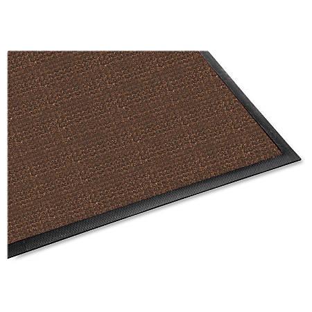 Genuine Joe Waterguard Indoor/Outdoor Floor Mat, 4' x 6', Chocolate Brown