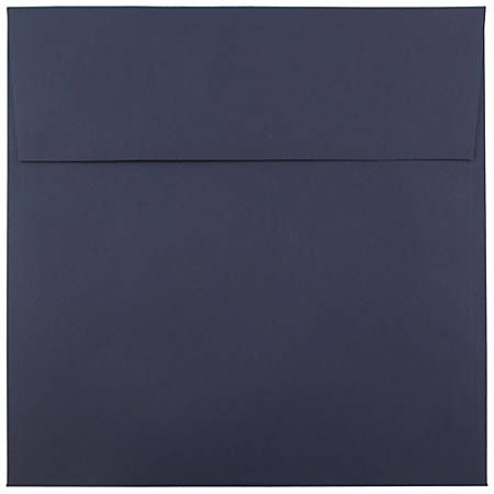 "JAM Paper® Color Square Invitation Envelopes, 8 1/2"" x 8 1/2"", Navy Blue, Pack Of 25"
