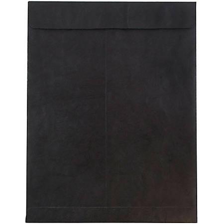 """JAM Paper® Tyvek® Open-End Catalog Envelopes, 10"""" x 13"""", Black, Pack Of 25"""