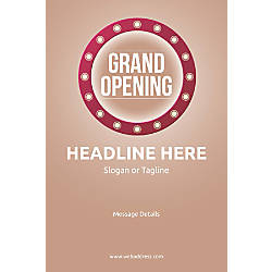 Adhesive Sign Retro Grand Opening Vertical