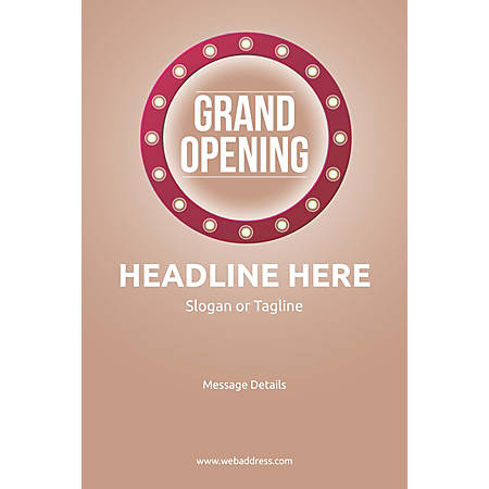 Adhesive Sign, Retro Grand Opening, Vertical