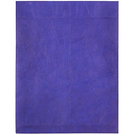 """JAM Paper® Tyvek® Open-End Catalog Envelopes, 10"""" x 13"""", Blue, Pack Of 25"""