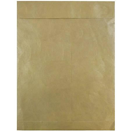 """JAM Paper® Tyvek® Open-End Catalog Envelopes, 10"""" x 13"""", Gold, Pack Of 25"""