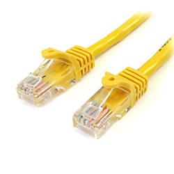 StarTechcom 10 ft Yellow Snagless Cat5e