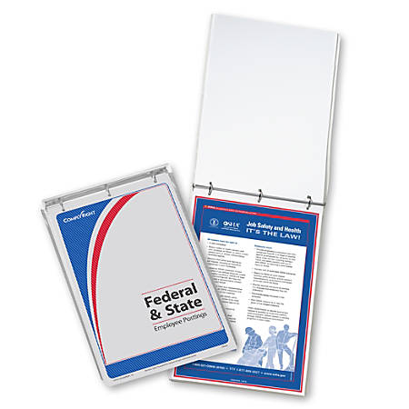 "ComplyRight Federal/State Remote Worksite Labor Law Binder With 1-Year Replacement Service, English, Indiana, 11"" x 17"""