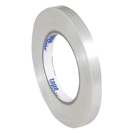 "Tape Logic® 1550 Strapping Tape, 3"" Core, 0.5"" x 60 Yd., Clear, Case Of 72"
