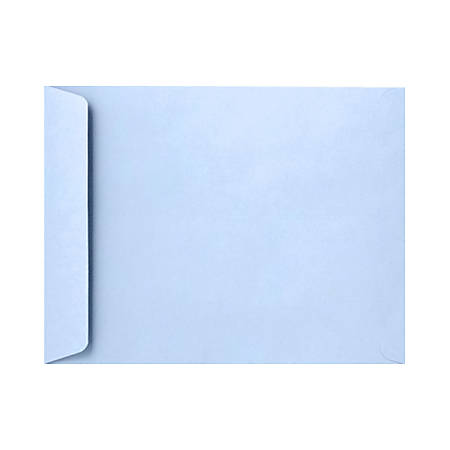 """LUX Open-End Envelopes With Peel & Press Closure, 10"""" x 13"""", Baby Blue, Pack Of 500"""