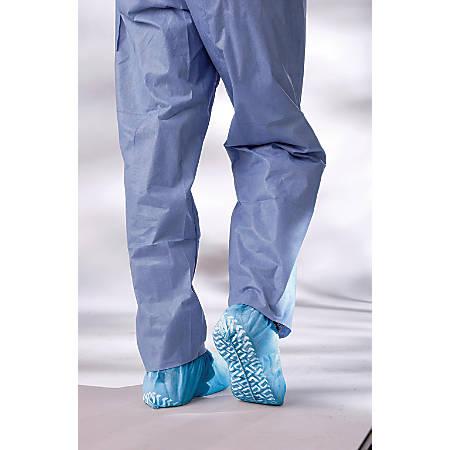 Medline Non-skid Pro Spunbound Polypropylene Shoe Covers, XL, Blue, 100 Covers Per Box