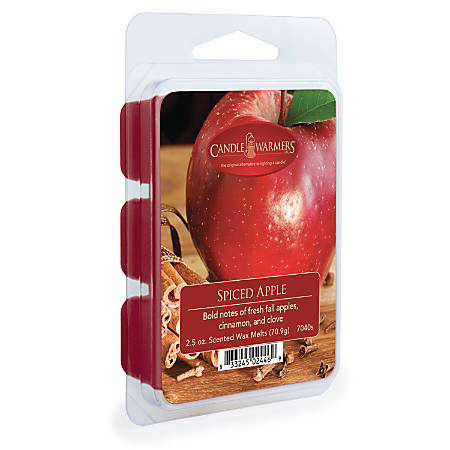 Candle Warmers Etc Wax Melts, Spiced Apple, 2.5 Oz, Case Of 4 Packs