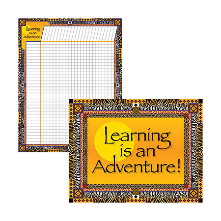 "Barker Creek® Chart Set, Learning Is An Adventure, 17"" x 22"", Grades Pre-K+, Pack Of 2"
