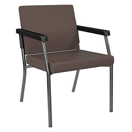 Office Star™ Bariatric Big & Tall Guest Chair, Java/Gunmetal Gray
