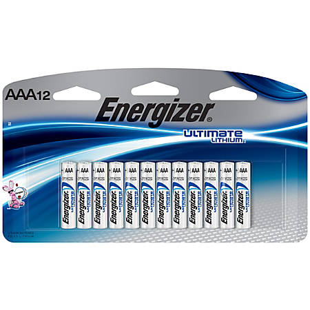 energizer ultimate lithium batteries aaa pack of 12. Black Bedroom Furniture Sets. Home Design Ideas