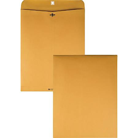 "Quality Park Clasp Envelope - Clasp 12"" x15 1/2"", 28 lb, Gummed Kraft, Box Of 100"
