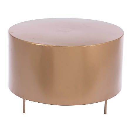 Zuo Modern Bor Coffee Table, Round, Gold