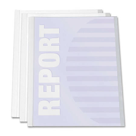 """C-Line® Report Covers With Binding Bars, 8 1/2"""" x 11"""", Clear, Box Of 50"""