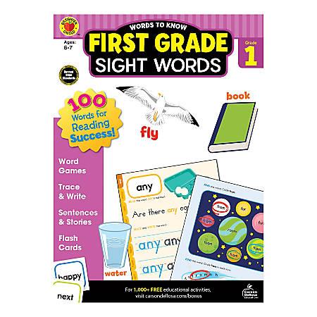 Brighter Child Words To Know Workbook, Sight Words, Grade 1