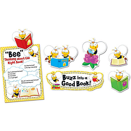 Carson-Dellosa Buzz–Worthy Bees Reading Bulletin Board Set, Multicolor, Grades Pre-K - 5