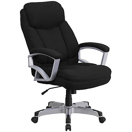 Flash Furniture HERCULES Big & Tall Fabric High-Back Swivel Office Chair, Black/Silver