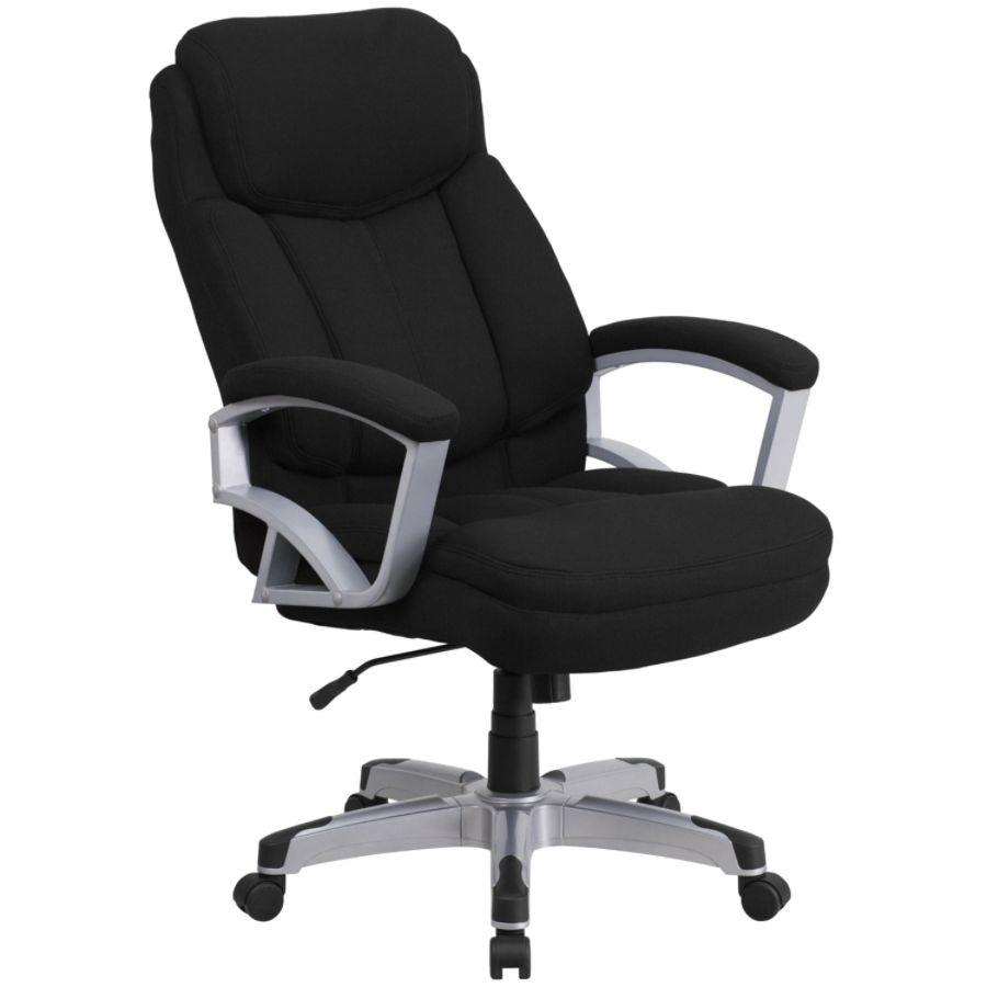 Flash Furniture HERCULES Big Tall Fabric High Back Swivel Office Chair  BlackSilver By Office Depot U0026 OfficeMax