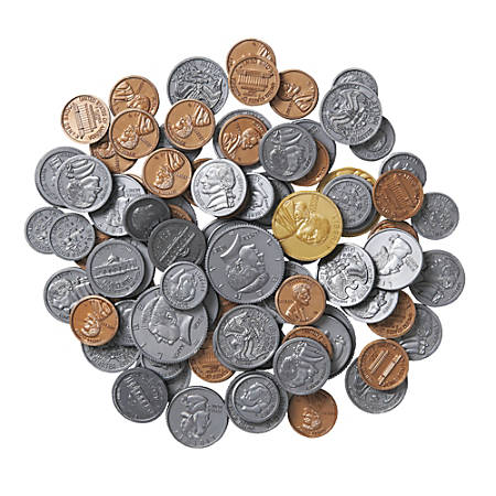 Learning Resources® Plastic Coins, Pre-K - Grade 8, Set Of 96