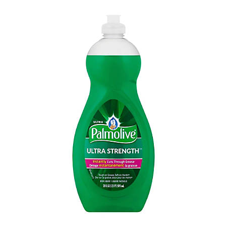 Palmolive® Ultra Strength™ Liquid Dish Soap, Green, 20 Oz, Case Of 9
