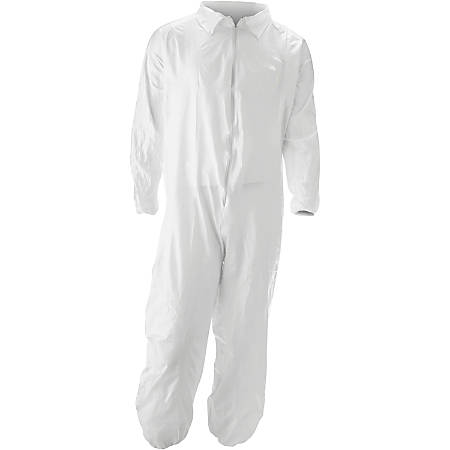 MALT ProMax Coverall - Recommended for: Chemical, Painting, Food Processing, Pesticide Spraying, Asbestos Abatement - Extra Large Size - Zipper Closure - Polyolefin - White - 25 / Carton