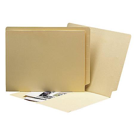 "Smead® Shelf-Master® End-Tab Folders, 9 1/2"" x 15 1/4"", Manila, Box Of 100"