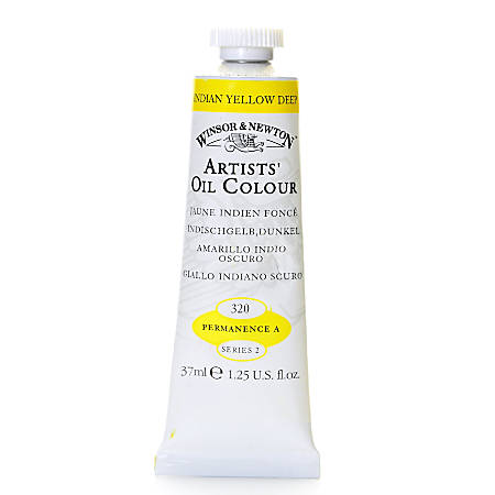 Winsor & Newton Artists' Oil Colors, 37 mL, Indian Yellow Deep, 320, Pack Of 2