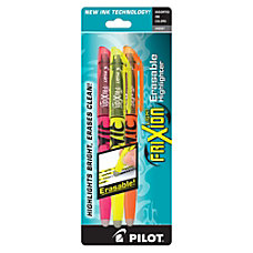 Pilot FriXion Light Erasable Highlighters Chisel