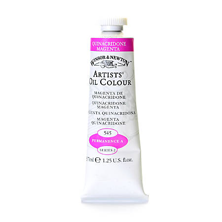 Winsor & Newton Artists' Oil Colors, 37 mL, Quinacridone Magenta, 545, Pack Of 2