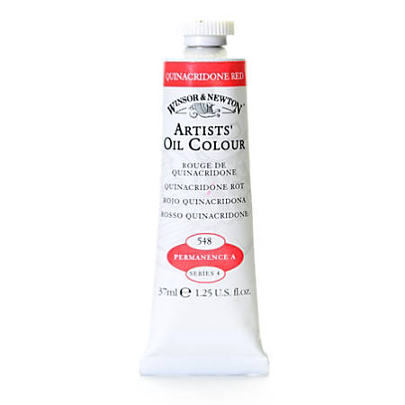 Winsor & Newton Artists' Oil Colors, 37 mL, Quinacridone Red, 548