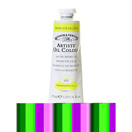 Winsor & Newton Artists' Oil Colors, 37 mL, Bismuth Yellow, 25