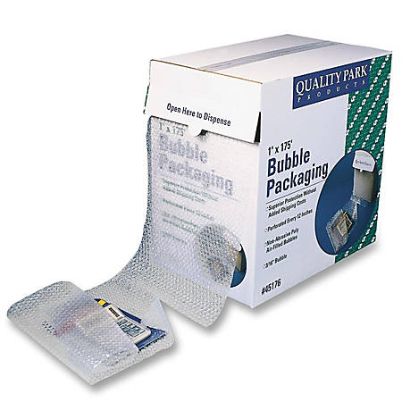 "Quality Park Bubble Packaging - 12"" Width x 175 ft Length - Perforated - Clear"