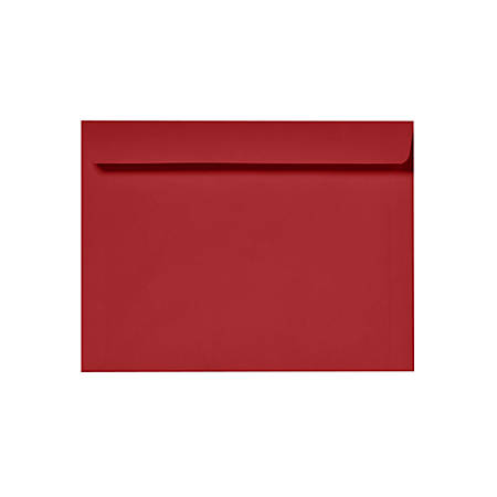 """LUX Booklet Envelopes With Moisture Closure, 6"""" x 9"""", Ruby Red, Pack Of 1,000"""