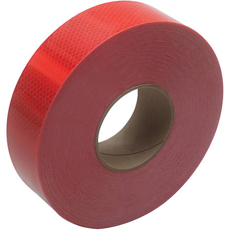 "3M™ 983 Reflective Tape, 3"" Core, 2"" x 50 Yd., Red"