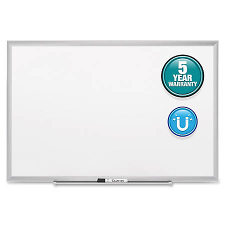 "Quartet® Classic Magnetic Whiteboard - 48"" (4 ft) Width x 36"" (3 ft) Height - White Painted Steel Surface - Silver Aluminum Frame - Horizontal/Vertical - 1 Each"